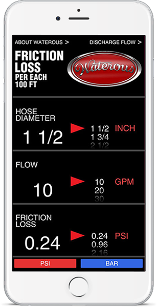 Friction Loss and Smooth Nozzle Discharge Calculator